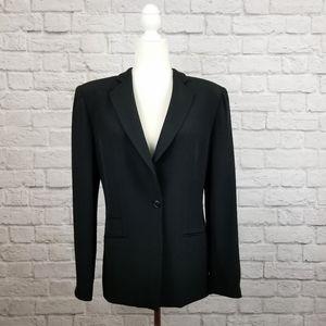 Armani Collezioni black one button classic blazer
